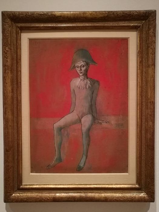 Mostra Pablo Picasso X Thomas Scheibitz al Berggruen Museum : Arlecchino seduto