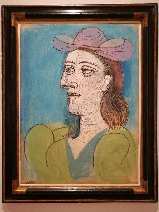 Mostra Pablo Picasso X Thomas Scheibitz al Berggruen Museum : Donna con cappello