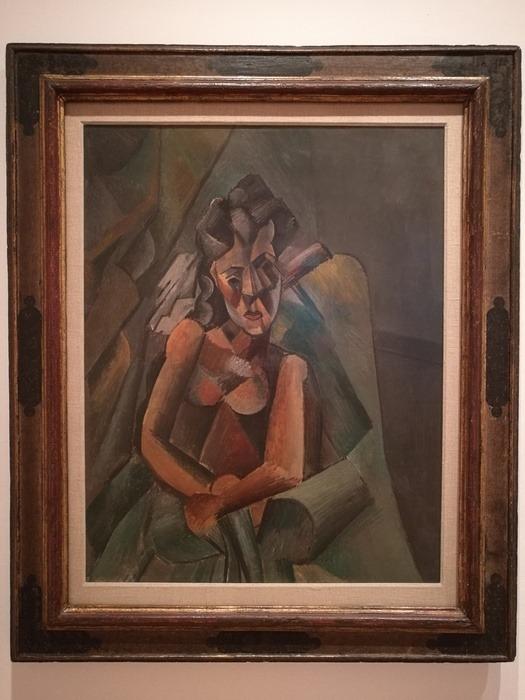 Mostra Pablo Picasso X Thomas Scheibitz al Berggruen Museum : Donna seduta