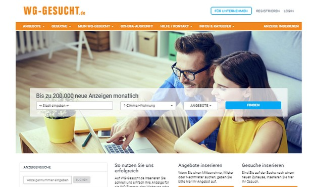 homepage di wg-gesucht