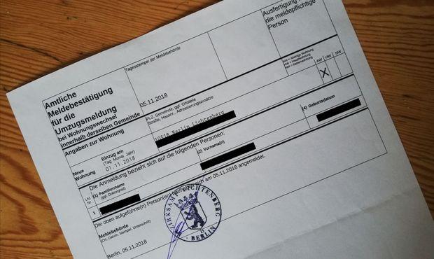 documento anmeldung